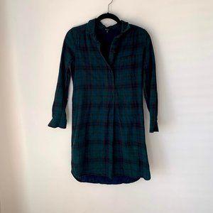 Madewell Latitude Flannel Dress